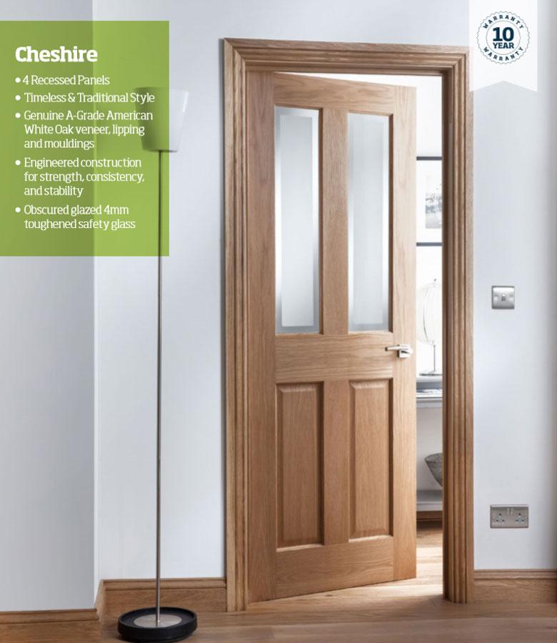 Cheshire 4 Panel Oak Internal Door Blueprint Joinery