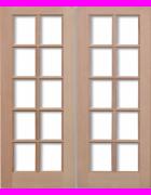 GTP Hemlock Pairs Unglazed Exterior Door