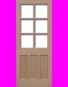 KXT Hemlock Unglazed Exterior Door