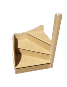 KwikStairs Right-Hand Winder Kit