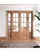 W6 Oak Room Divider