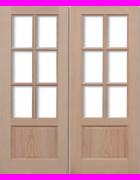 GTP 2P Hemlock Pairs Unglazed Exterior Door