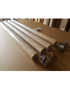 AXXYS Wall Handrail Kit 4mts - Rail in Box Set Oak and Chrome Stair Rail