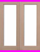 Pattern 20 Hemlock Pairs Unglazed Exterior Door
