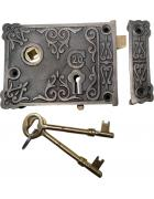 Floral Rim Lock