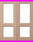 2XGG Hemlock Pairs Unglazed Exterior Door