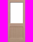 2XG Hemlock Unglazed Exterior Door