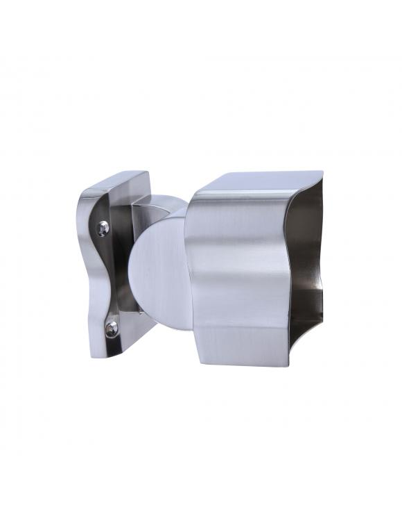 Contemporary Forge Handrail Connectors Select Chrome or Brushed Nickel image
