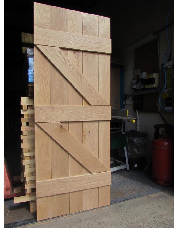 Solid Oak Ledged and Braced Cottage Door image