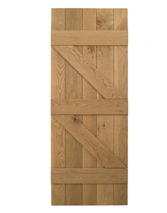 Solid Oak Ledged and Braced Cottage Door image