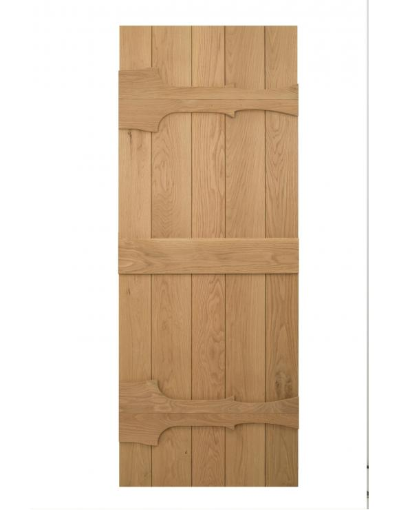 Solid Oak Abbey Ledged Cottage Door image