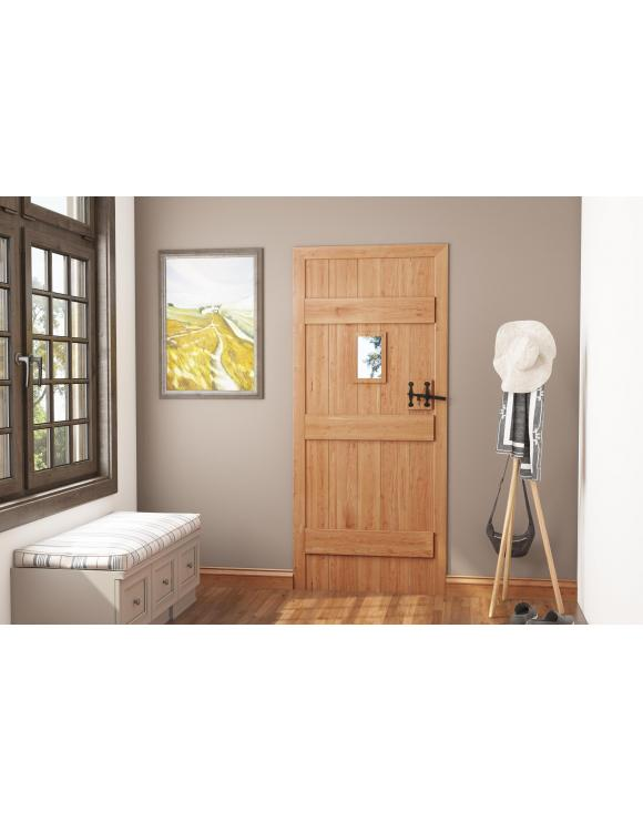 Solid Oak Ledged Glass Opening Cottage Door image
