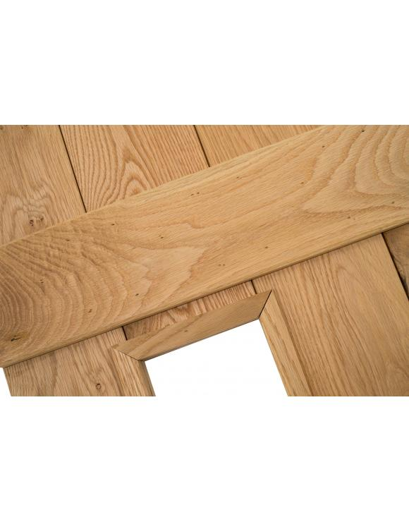 Solid Oak Richmond Glass Ledged Cottage Door image