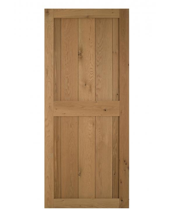 Solid Oak Framed Ledged Cottage Door image