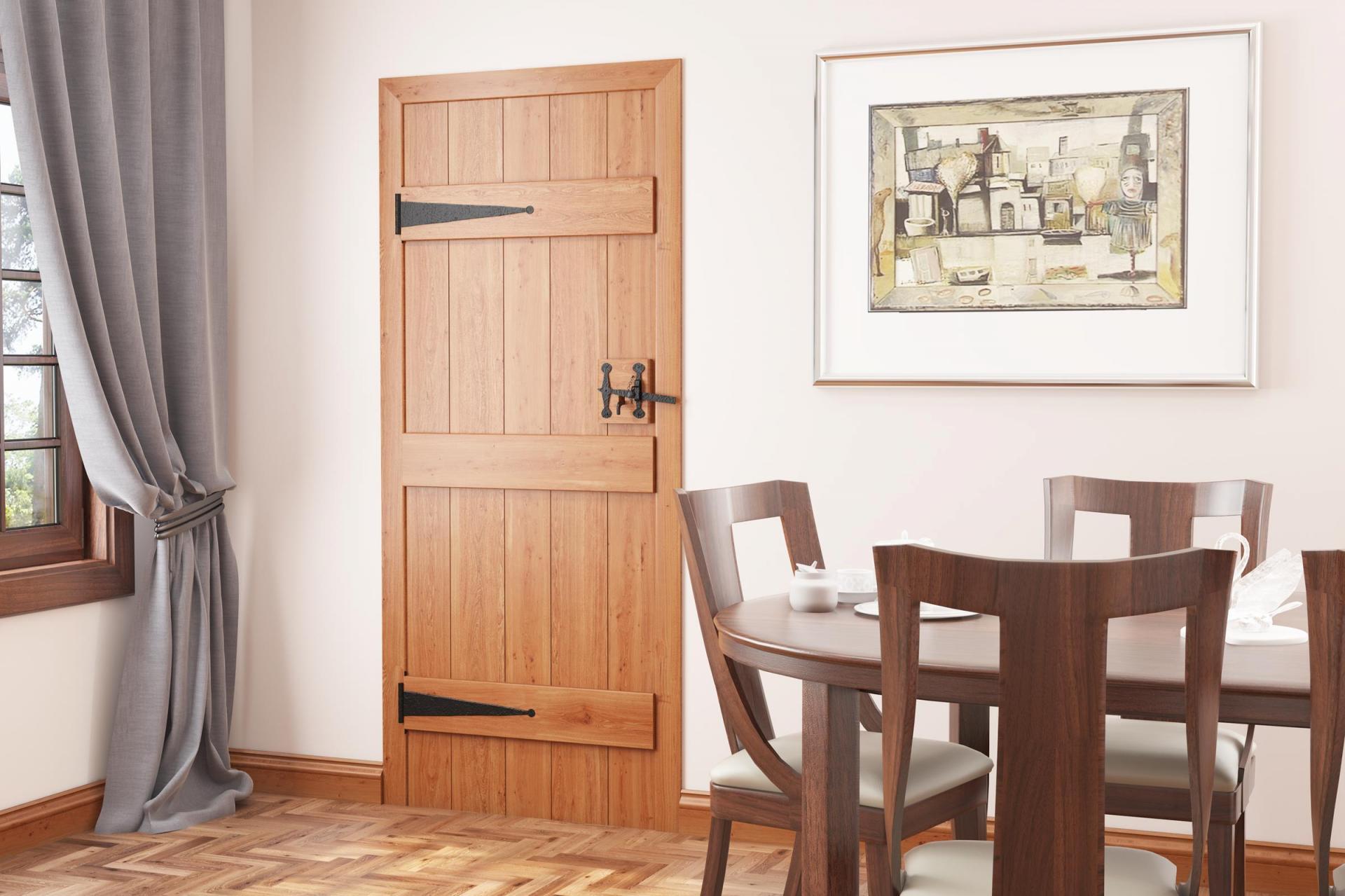Solid Oak Ledged Doors u0026 Floors & Solid Oak Ledged Doors | Blueprint Joinery