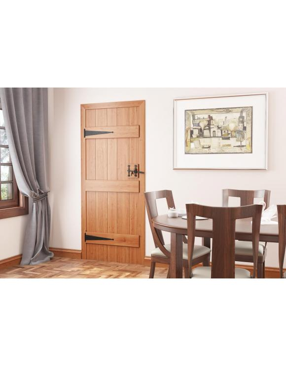 Solid Oak 3 Ledged Cottage Door image
