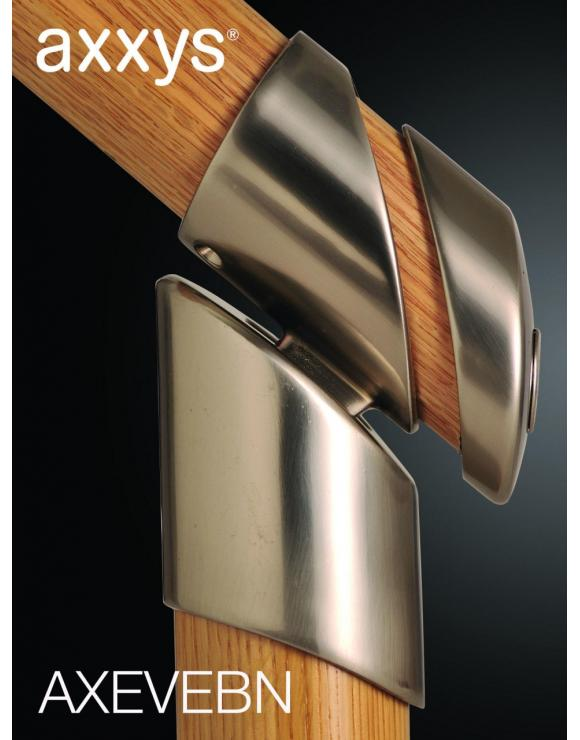 Axxys Evolution End Bracket Select Chrome or Brushed Nickel image