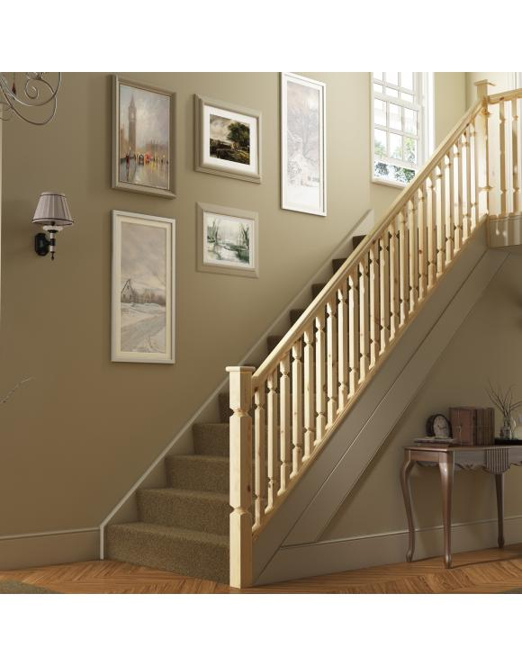 Regency Plain Square Stair & Landing Balustrade Kit image