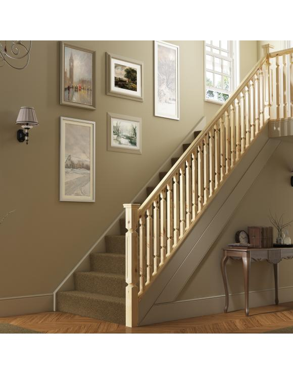 Regency Square Rebated Stair & Landing Balustrade Kit image