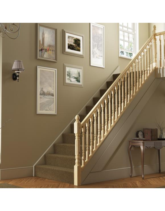 Fluted Rolling Pin Stair & Landing Balustrade Kit image