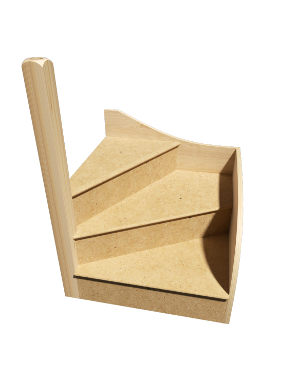 KwikStairs Left-Hand Winder Kit image