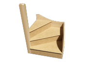 KwikStairs Left-Hand Winder Kit