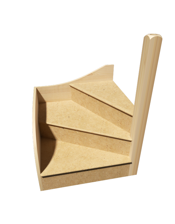 KwikStairs Right-Hand Winder Kit image
