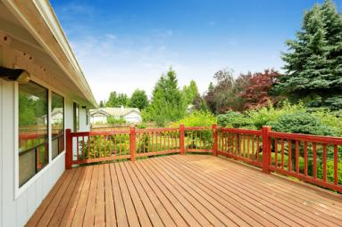 Deck Overlooking Garden