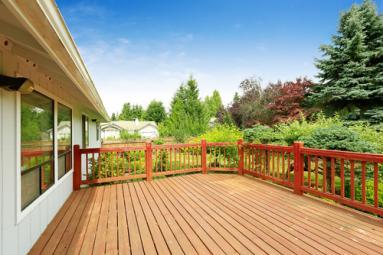 Deck Overlooking Garden