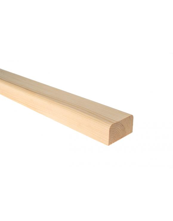 Square Ungrooved Profile Base Rail - Select Timber and Length image