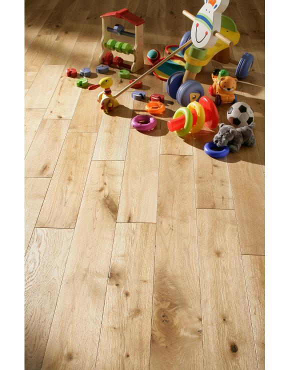 Rustic Grade Brushed and Oiled Oak Flooring image