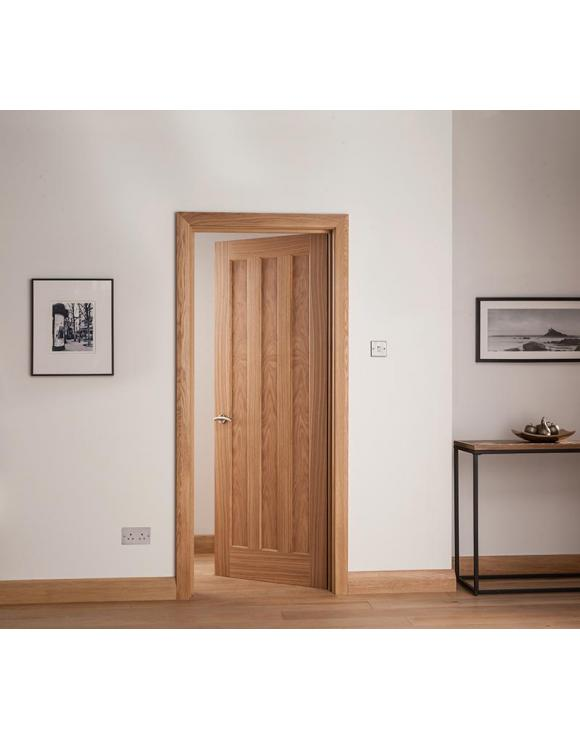 Brindley Vertical 3 Panel Oak Internal Door image