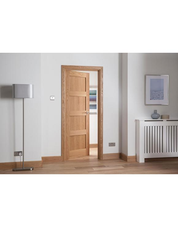 Cheshire 4 Panel Shaker Oak Internal Door image