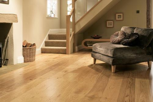 Solid Oak Flooring in a home.
