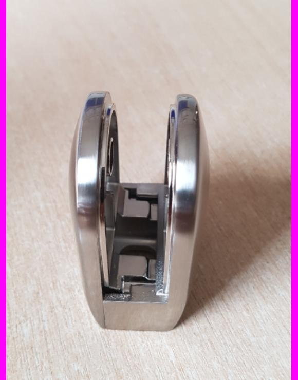 Brushed Nickel Glass Clamp 8mm or 10mm image