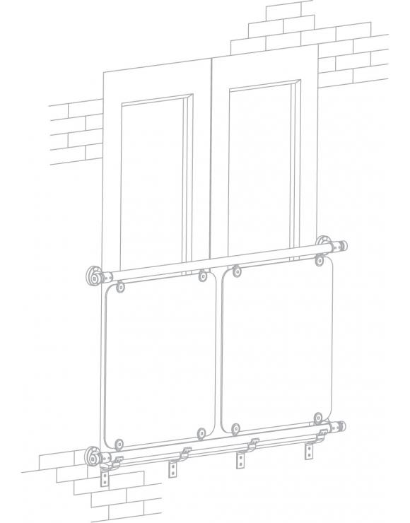Juliet Balcony Kit - 1500mm x 1570mm Openings image