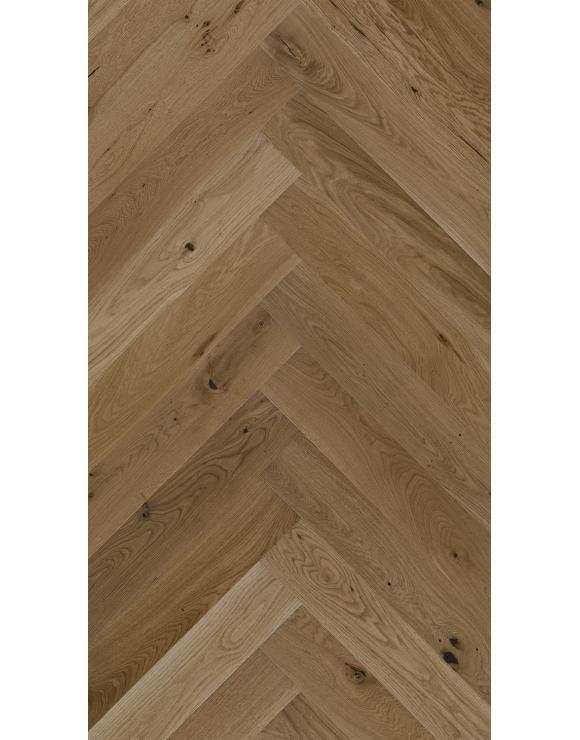 Herringbone Toffee Oak Matt Lacquer 5G Engineered Flooring image