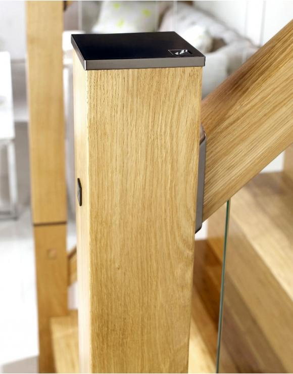 White Oak Immix Newel with Zipbolt image