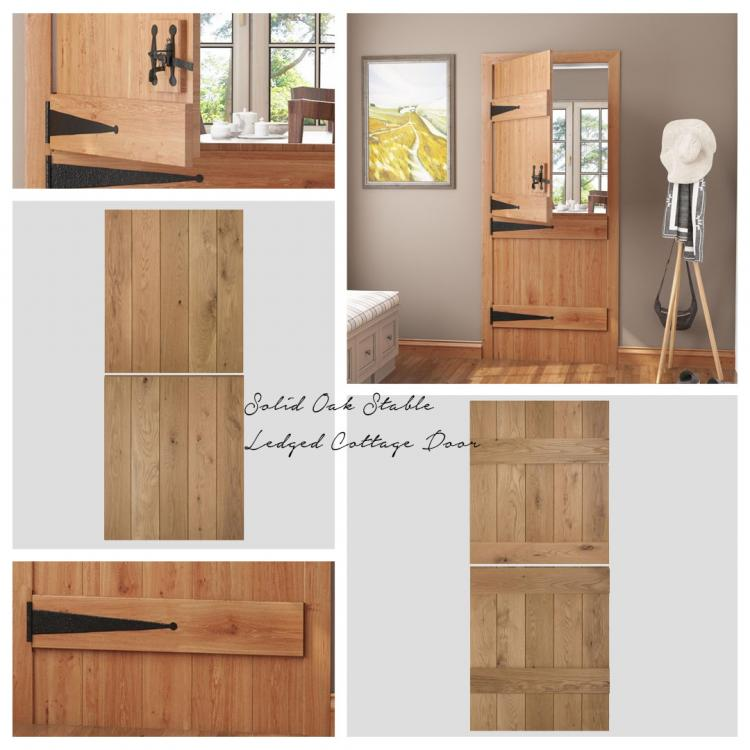 Solid Oak Stable Ledged Cottage Door product image