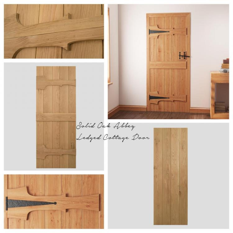Solid Oak Abbey Ledged Cottage Door product image