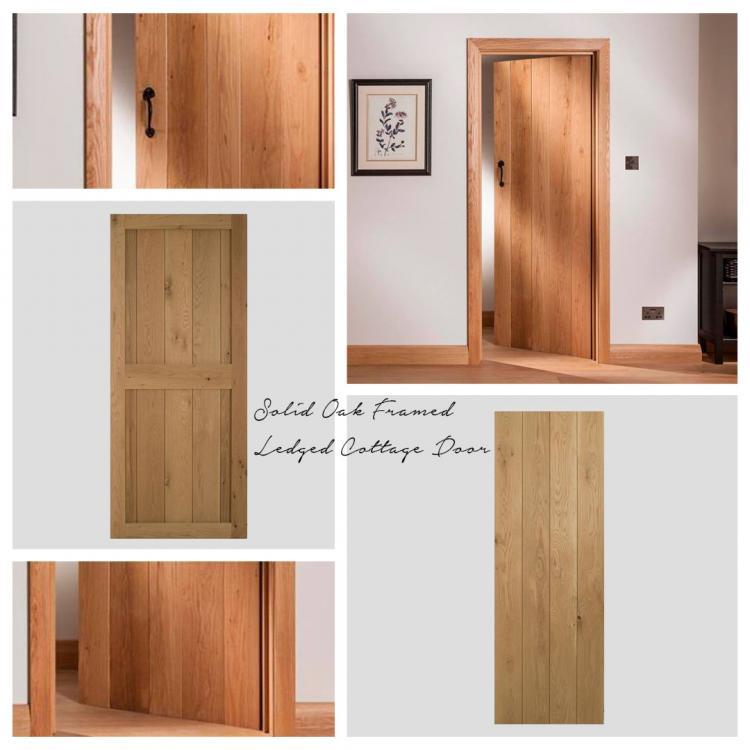 Solid Oak Framed Ledged Cottage Door product image