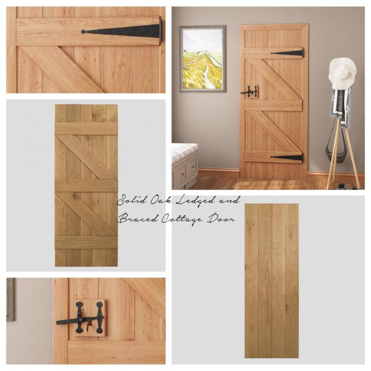 Solid Oak Ledged and Braced Cottage Door product image