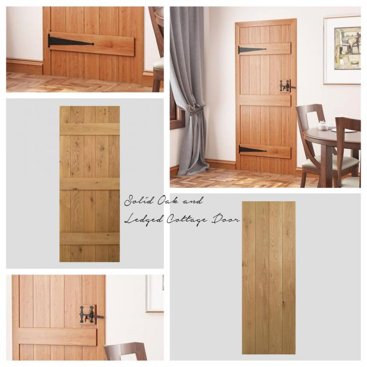 Solid Oak and Ledged Cottage Door product image
