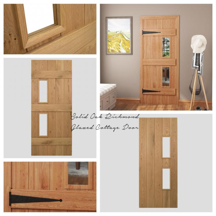 Solid Oak Richmond Glazed Cottage Door product image