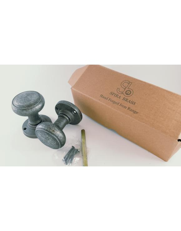 Ribbed Pewter Door Knob image