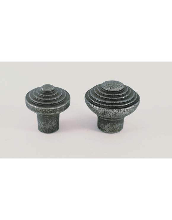 Ribbed Pewter Cupboard Knob image