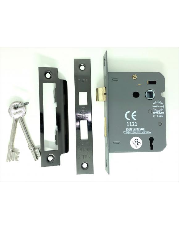Fire Rated Door Sash Lock CE BS Rated Mortice 3 Lever image