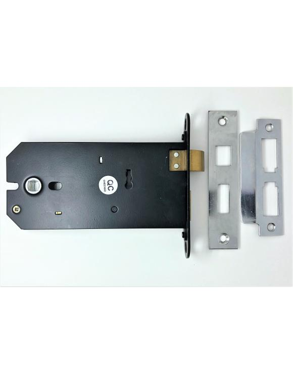 Heavy Duty 3 Lever Horizontal Mortice Nickel Sash Lock image