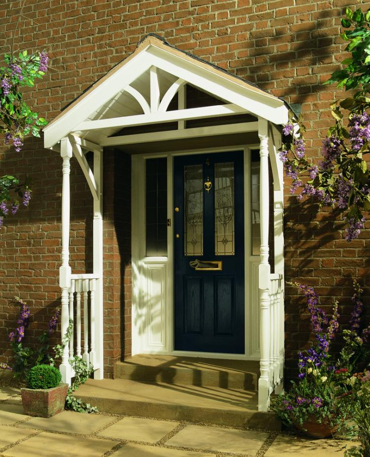 A front door canopy. Please contact us for more information on the door canopy kits that we stock on our website.