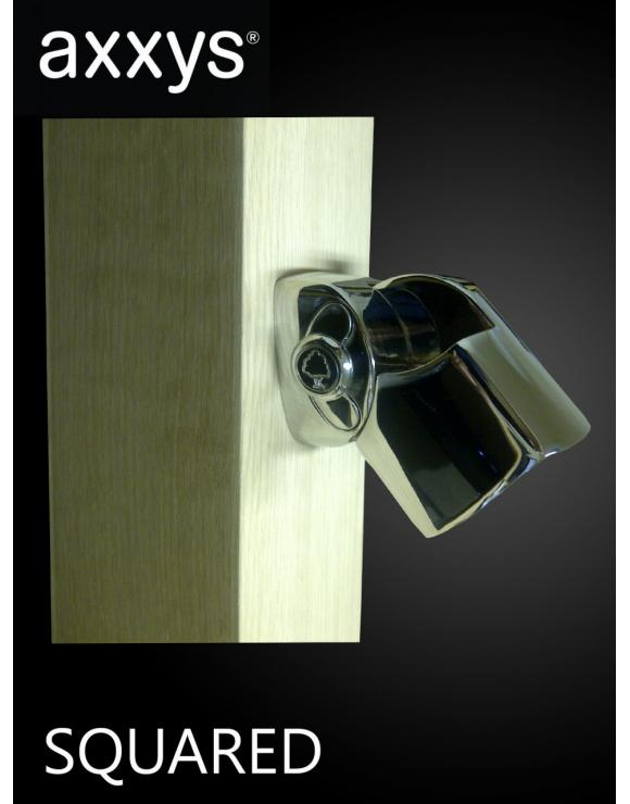 AXXYS Squared Chrome Adjustable Handrail Connector image